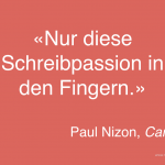 Schreibpassion (Paul Nizon)